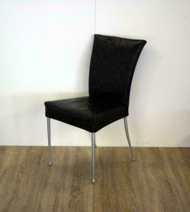 Design Stoelen Alkmaar.Design Stoelen Eetkamerstoelen Bijzetstoelen Zwart Leer