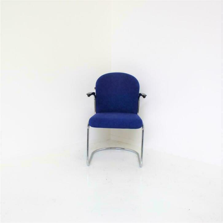 Blauwe Design Stoelen.Gispen 413 Rl Design Stoelen Vergaderstoelen Kobalt Blauw