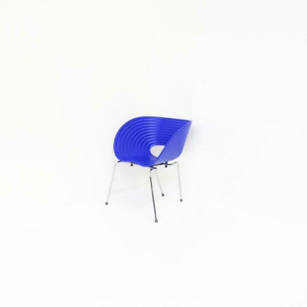 Blauwe Design Stoelen.Vitra Tom Vac Design Stoelen Kuipstoelen Stapelbaar Blauw