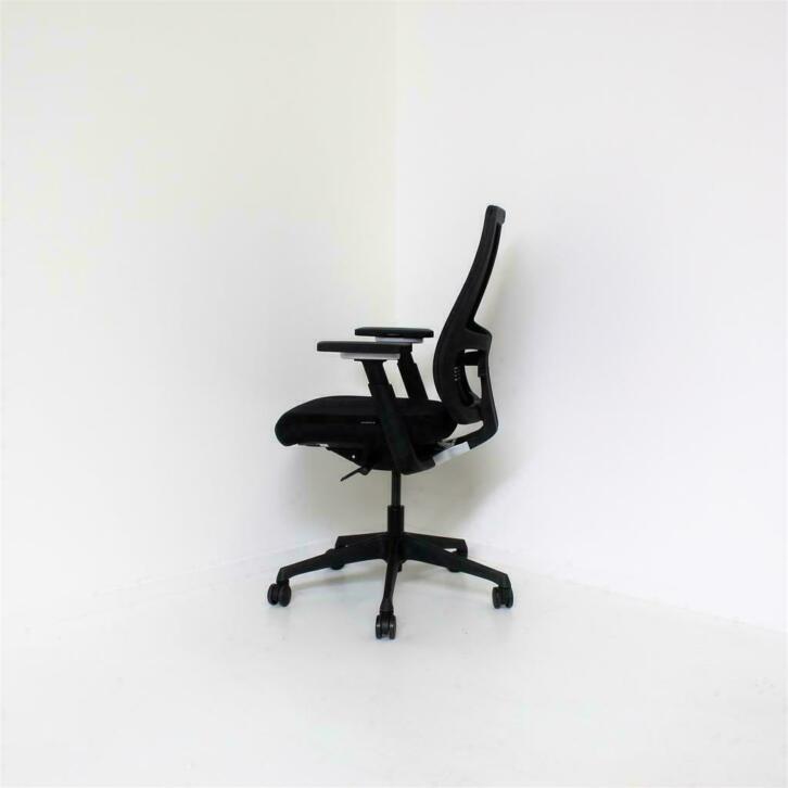 Fijne Zwarte Bureaustoel.Euroseats Body Bureaustoelen Nieuw Ergonomisch Zwart