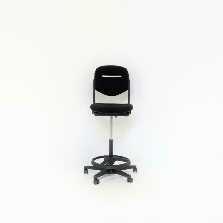 Ahrend 220 Bureaustoel Zwart.Ahrend 220 Leren Baliestoelen Bureaustoelen Kassastoelen