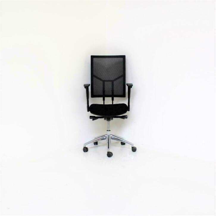 Bureaustoel Opnieuw Stofferen.Zwarte Ergonomische Bureaustoel Met Netweave Rm Kantoor Alkmaar
