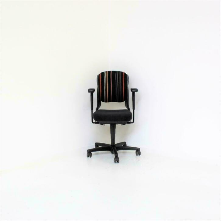 Ahrend 230 Bureaustoel Zwart.Ahrend 230 Zwart Antraciet Motief Bureaustoel Lage Rug